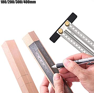 Ultra Precision Marking Ruler Stainless Steel Protractor Ruler T Type Woodworking Ruler Right Angle Woodworking Measuring Tool With Pen 180mm Angle Ruler Amazon Com
