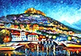 MESSINA HARBOR (48 x 72) is a massive Original Oil Painting on Canvas by Leonid Afremov. Firerock Fine Art recently purchased all of Leonid Afremovs signature pieces that previously hung in his Estate in Playa del Carmen, Mexico. This is one of the e...