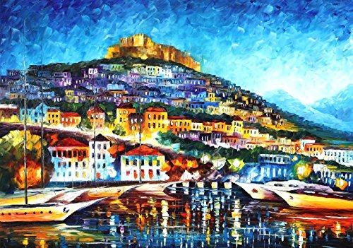 MESSINA HARBOR is the ONE-OF-A-KIND, ORIGINAL hand painted oil painting on Canvas by Leonid AFREMOV