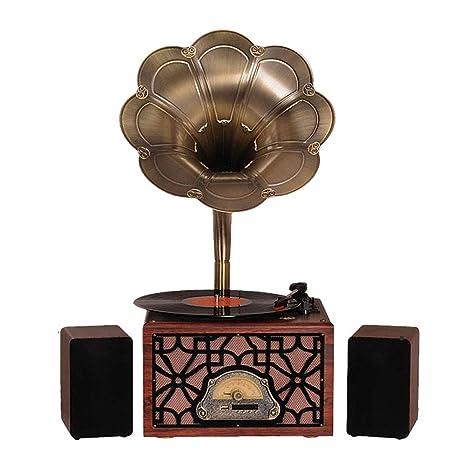LVSSY-Gramófono Tocadiscos de Vinilo Vintage Decoracion Hogar ...