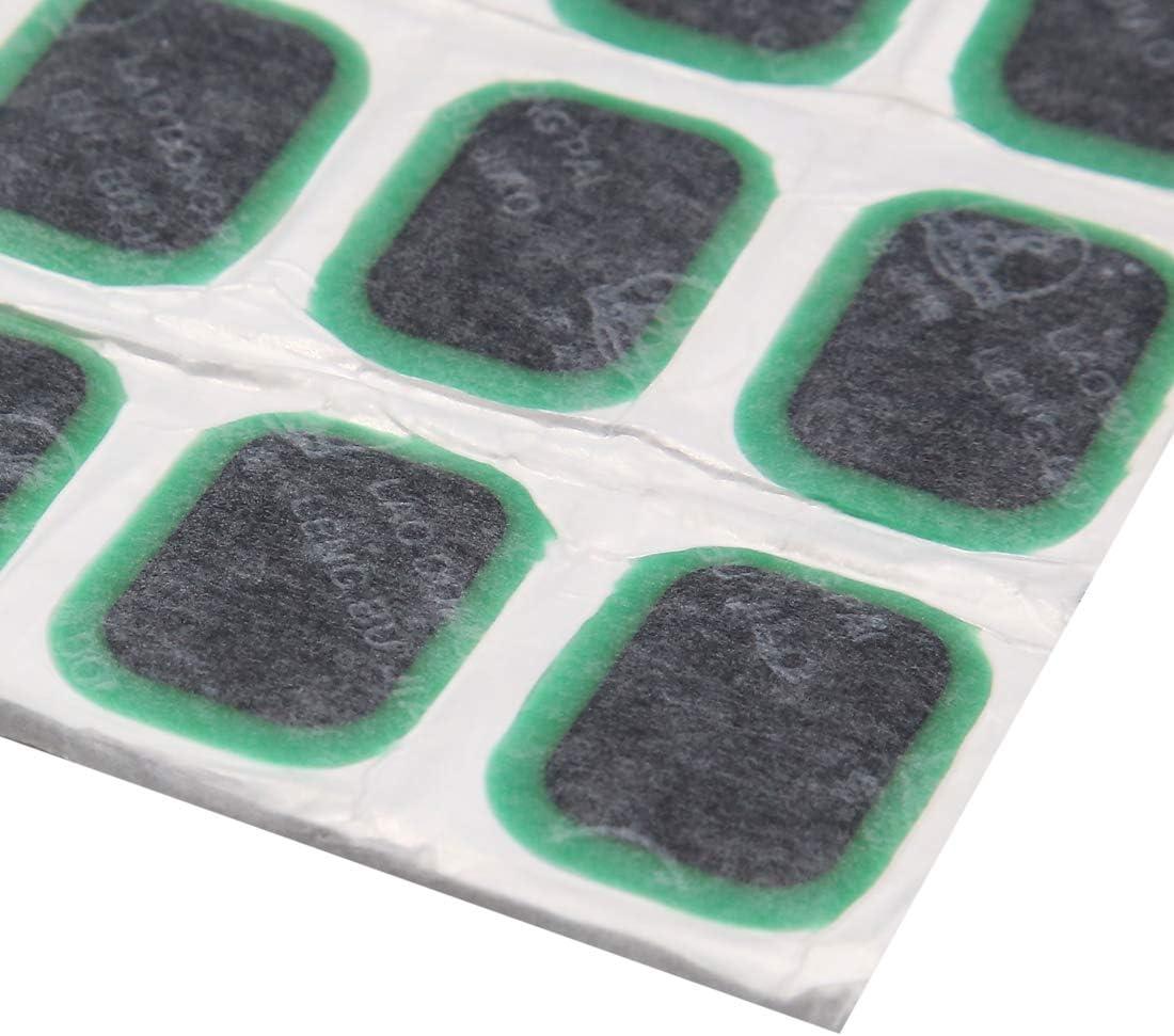 Carte de Source 24/pcs Vert Moto Pneu de Voiture Pneu Anti-crevaison pour Patches Outil de r/éparation 52/x 34/mm
