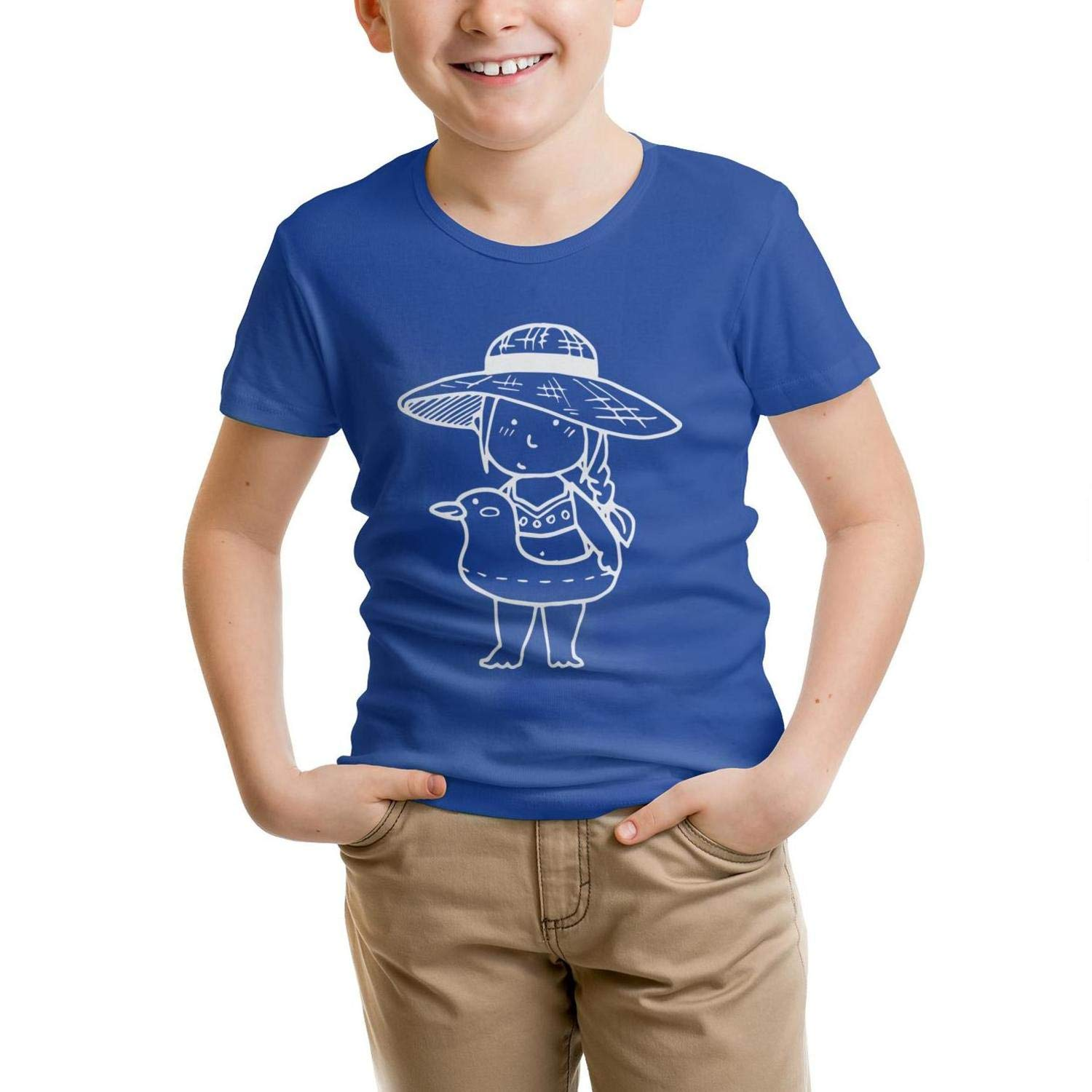 Duck Swimming Ring All cottonTee Slim-Fit forYoung Shirt Simple Parttern