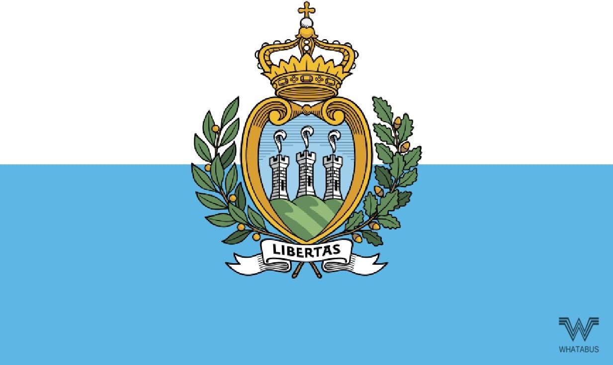 Whatabus San Marino Flagge Aufkleber Länderflagge Als Sticker 8 5 X 5 5 Cm Auto