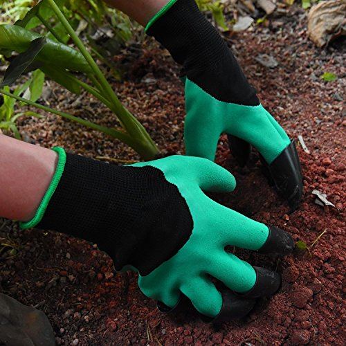 NNBB Garden Gloves With Fingertips Claws Quick- Great For