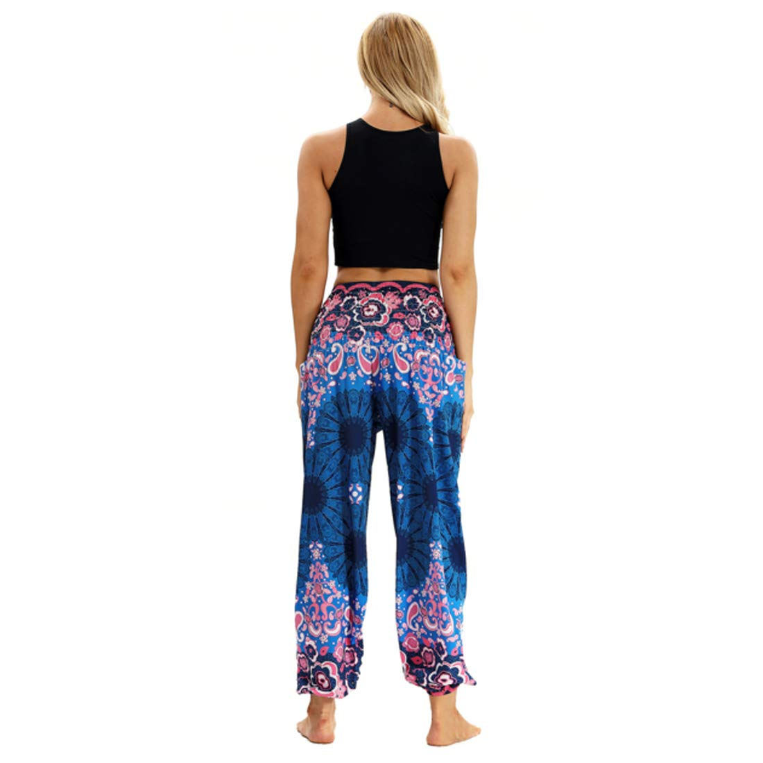 Aiweijia Pantalones de harén para Mujer Pantalones de Yoga ...