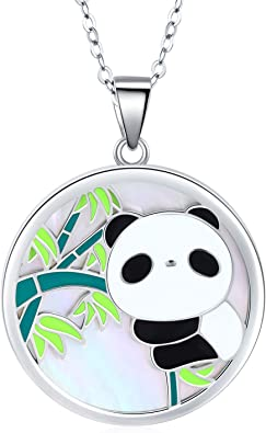 Fashion Jewelry ~ Black Crystal Panda Bear Pendant Necklace for Women Girls Teens Girls Men Girlfriends Birthday All Occasions Gifts