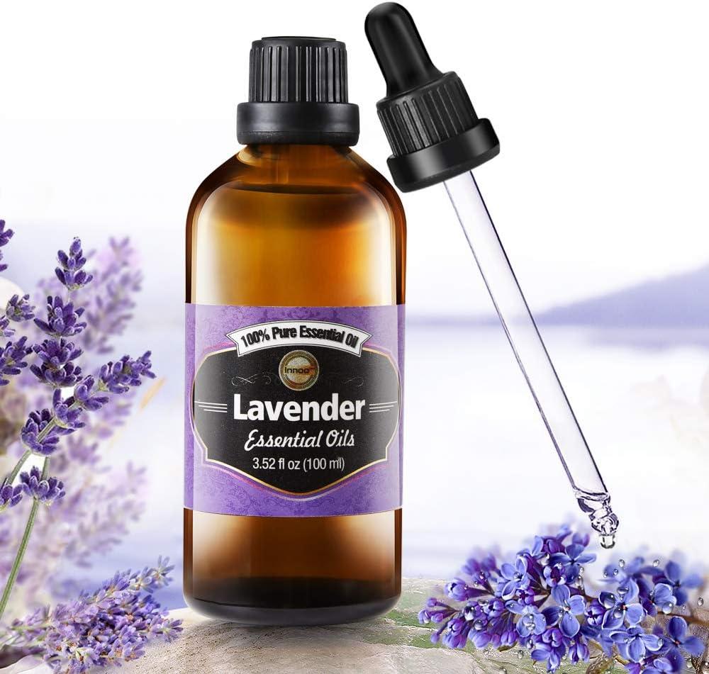 Aceite Esencial de Lavanda Puro aceite 100% orgánico, prensado en frío, filtrado y sin quemar, para pelo, piel, barba, cuerpo y uñas (Lavanda)