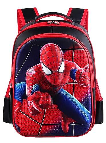 Superhero Spider Man Superman Backpack for Kids School Travel