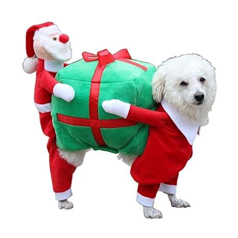 INTERNET Ropa para Perros, Perro Mascota Gato Regalo de Santa Disfraz Ropa de Lujo para