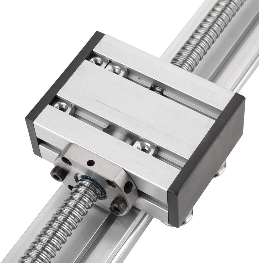 YGY-YGY Ball Screw Linear Stage Sturdy Durable 1204 Ball Screw Linear Slide Stroke Long Stage Actuator with Stepper Motor 400mm Stroke 0.03-0.05mm Linear Guide Rail