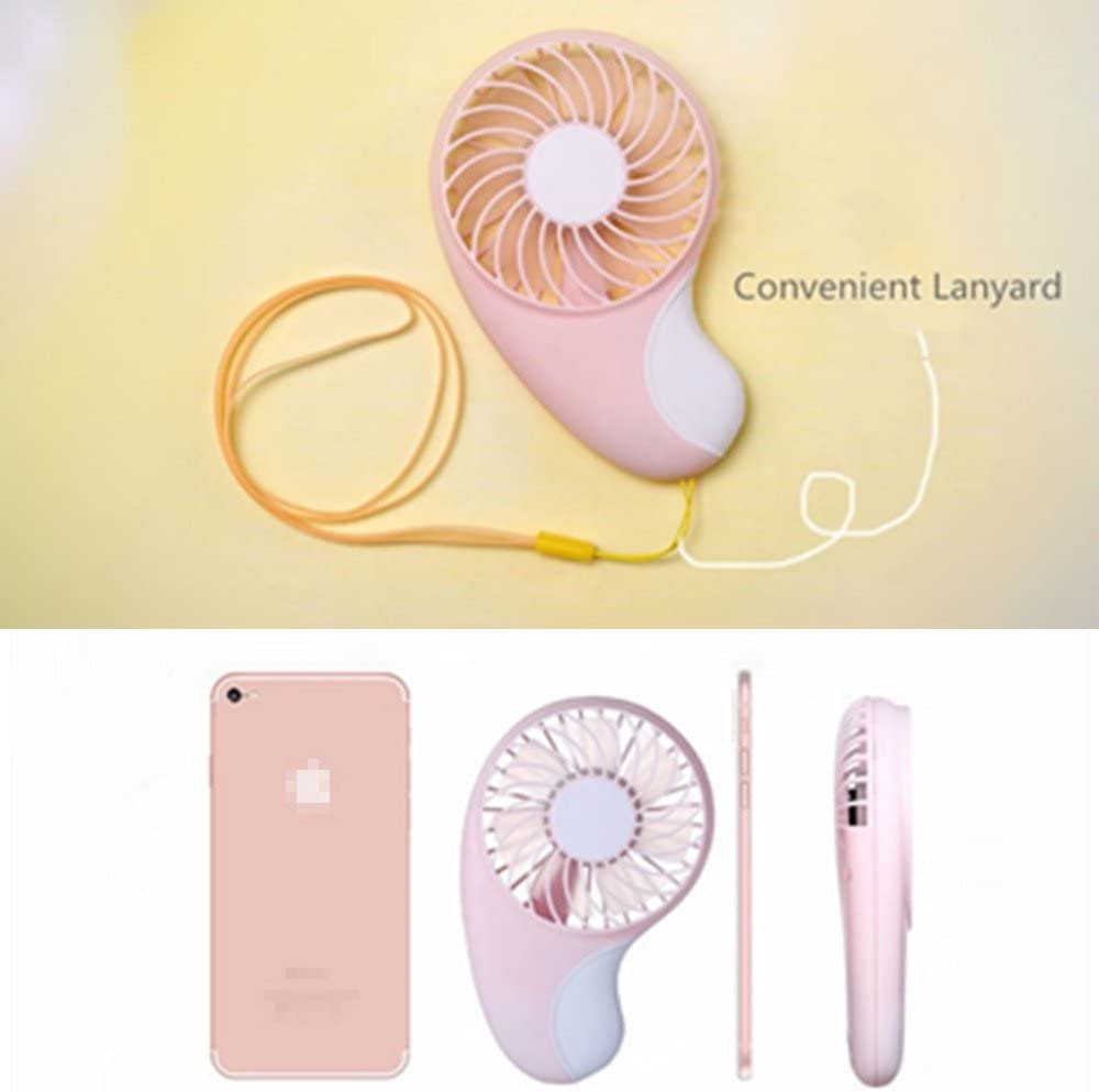 Mini Personal Portable Fan Pink Pocket Fan Air Cooling 800mAh Rechargeable 2 Speed Adjustable Portable Fan 1.8cm Ultra-Slim Hand Electric Fans for Outdoor Travel /& Indoor Office