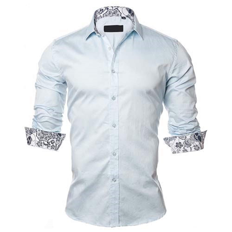 Evan Fordd Mens Shirt Fashion Casual Style Long Sleeve Shirts