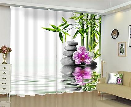 Tende A Fiori Per Camera Da Letto : Dbtxwd tende d fiori verdi di bambù verdi stampa digitale