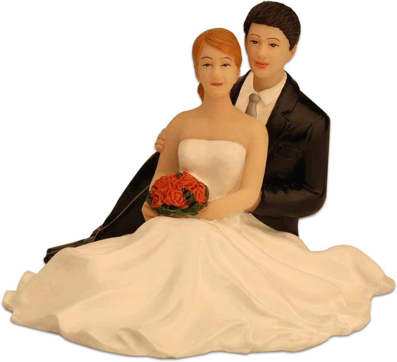 Ming People Weddling Couple Figurine Sitting Bride And Groom Cake Toppers Amazon Ca Home Kitchen