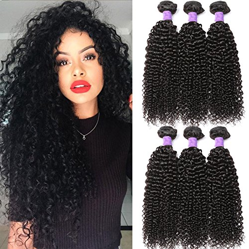 Hermosa 10A Brazilian Curly Hair 3 Bundles?12 14 16,300g?Good Quality Curly Weave Human Hair Unprocessed Brazilian Virgin Hair Black Color