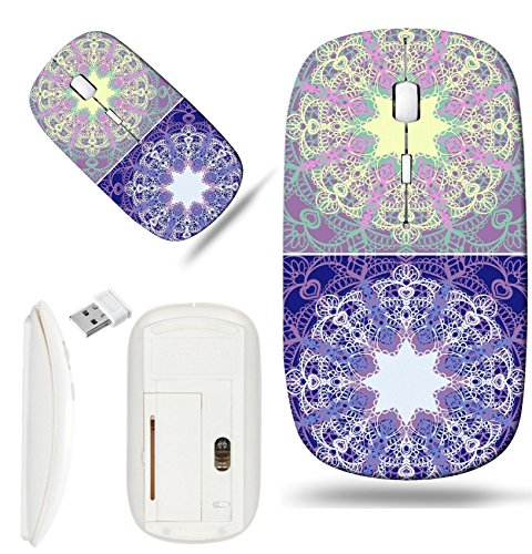 Luxlady Wireless Mouse White Base Travel 2.4G Wireless Mice with USB Receiver, 1000 DPI for notebook, pc, laptop,mac design IMAGE ID: 34760549 Eyelet Lace Seamless Background