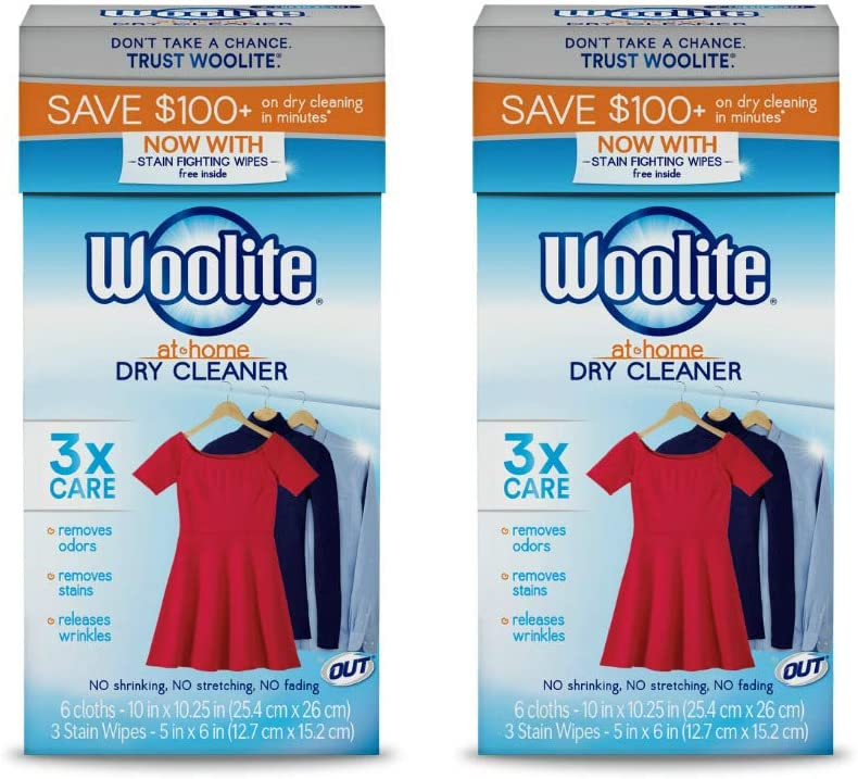 Woolite at-Home Dry Cleaner, Fresh Scent, 12 Cloths