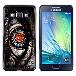 LECELL--Funda protectora / Cubierta / Piel For Samsung Galaxy A3 SM-A300 -- Native Sci-Fi Mysterious Pattern Grey --