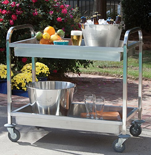Bayou Classic 4873 Stainless Steel Serving Cart ()