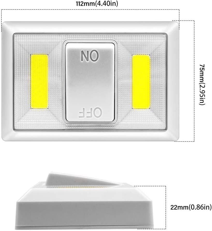 Closet Cupboard Kitchen Childrens Bedroom Wardrobe Shelf Beilan 4 Pack Night Light Wall Switch Battery Operated Cob Led Cordless Lights Switch Wireless Light For Cabinet Under Cabinet Lights