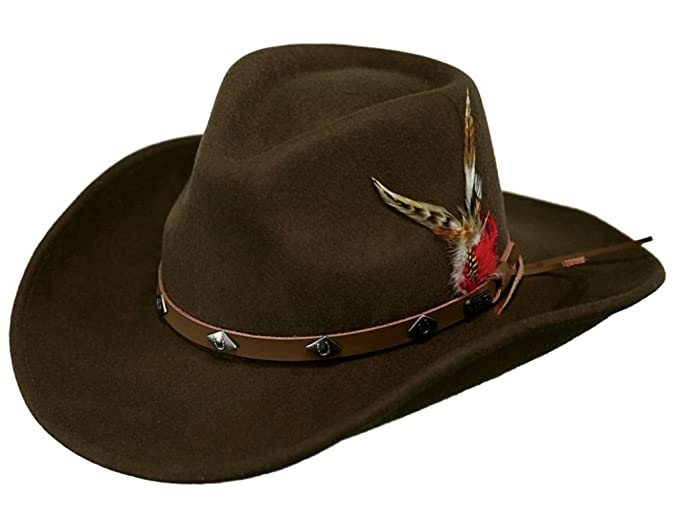 e44533017c5 Image Unavailable. Image not available for. Color  Outback Trading Hat Mens  Tough Wide Open Spaces Wool ...