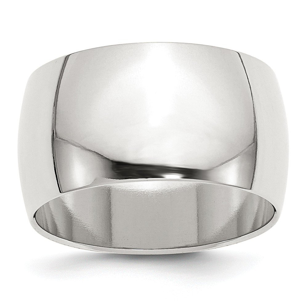 Amazon Solid 925 Sterling Silver 12mm Half Round Wedding Band Jewelry: 12mm Silver Flat Wedding Band At Reisefeber.org