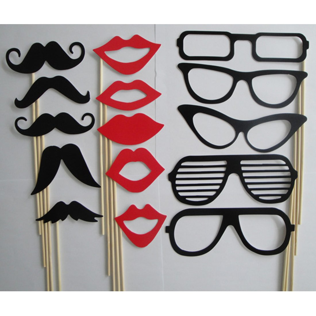 38e02194bdfd joyliveCY 15Pcs Photo Booth Props Moustache Lips Glasses On A Stick Party  Birthday Wedding  Amazon.co.uk  Kitchen   Home
