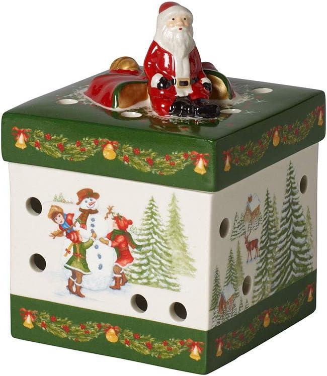 Decorazioni Natalizie Villeroy E Boch.Amazon Com Villeroy Boch Christmas Toy S Small Gift Box Santa Claus Hard Paste Porcelain Christmas Ornament Rectangular Green Multicoloured Kitchen Dining