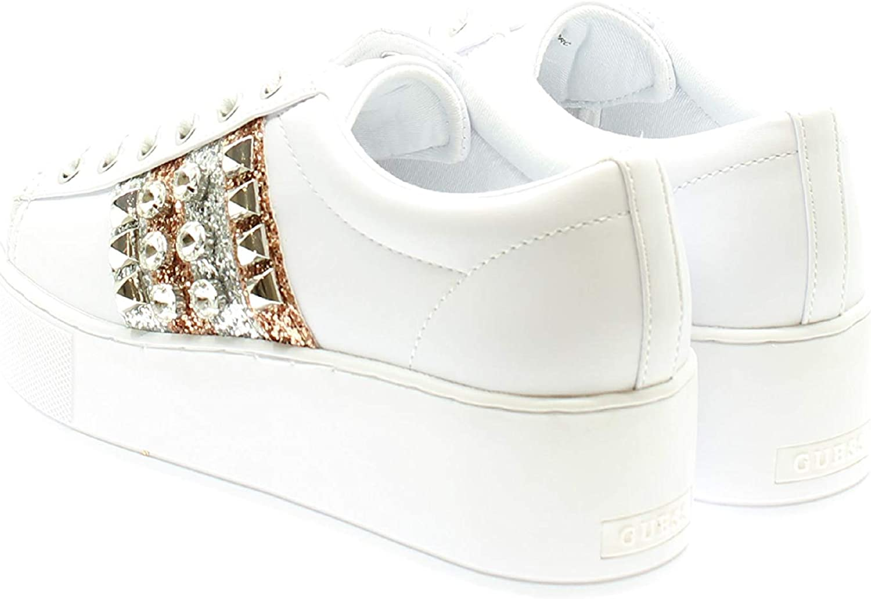 Guess FL7NEO Sneakers con Lacci in Ecopelle Donna Bianco