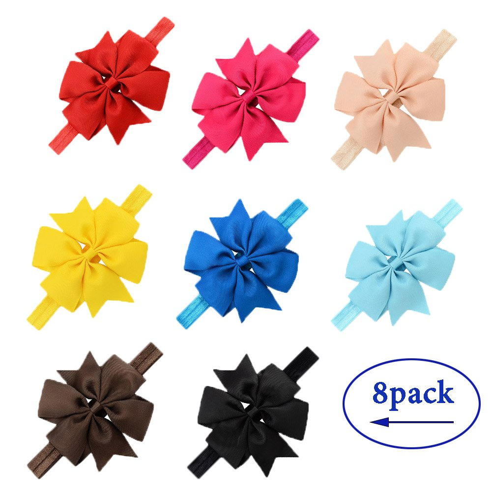 LQSmile Baby Girl's Beautiful Elastic Hair Hoops Headbands with Hair Bow for Take Photograph by LQSmile (Image #3)