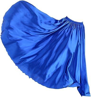 Falda Larga de Verano Mujer Plisada Vuelo Vestido de Círculo ...