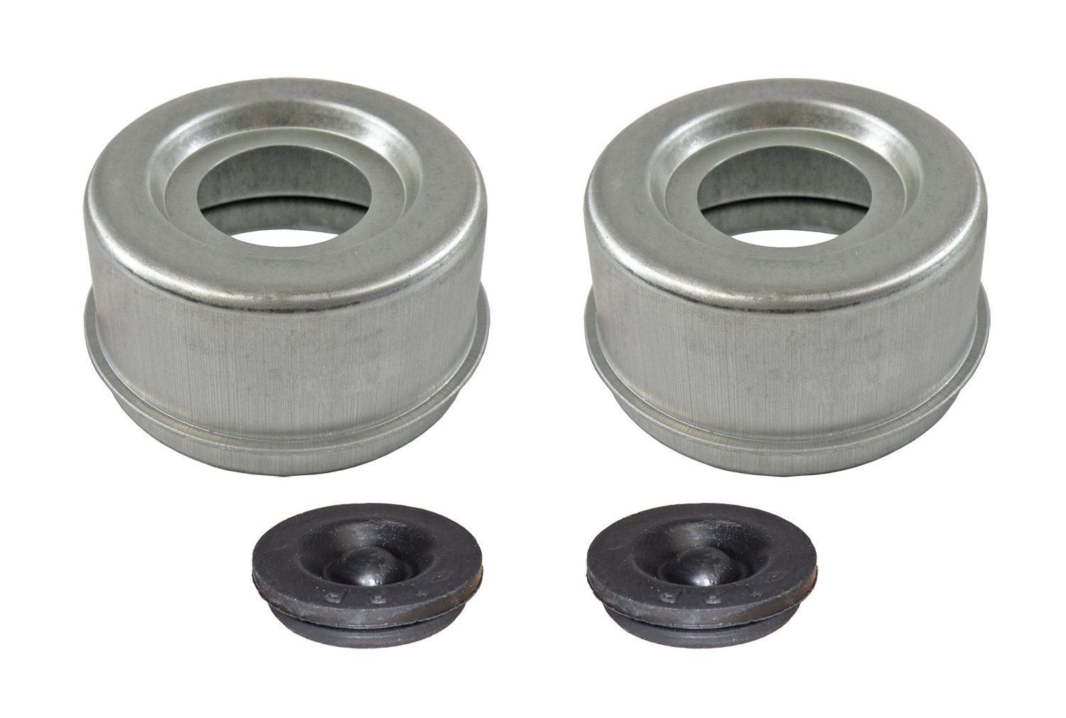 E-Z Lube Grease Caps With Rubber Plugs - Pair (EZ3-PR)