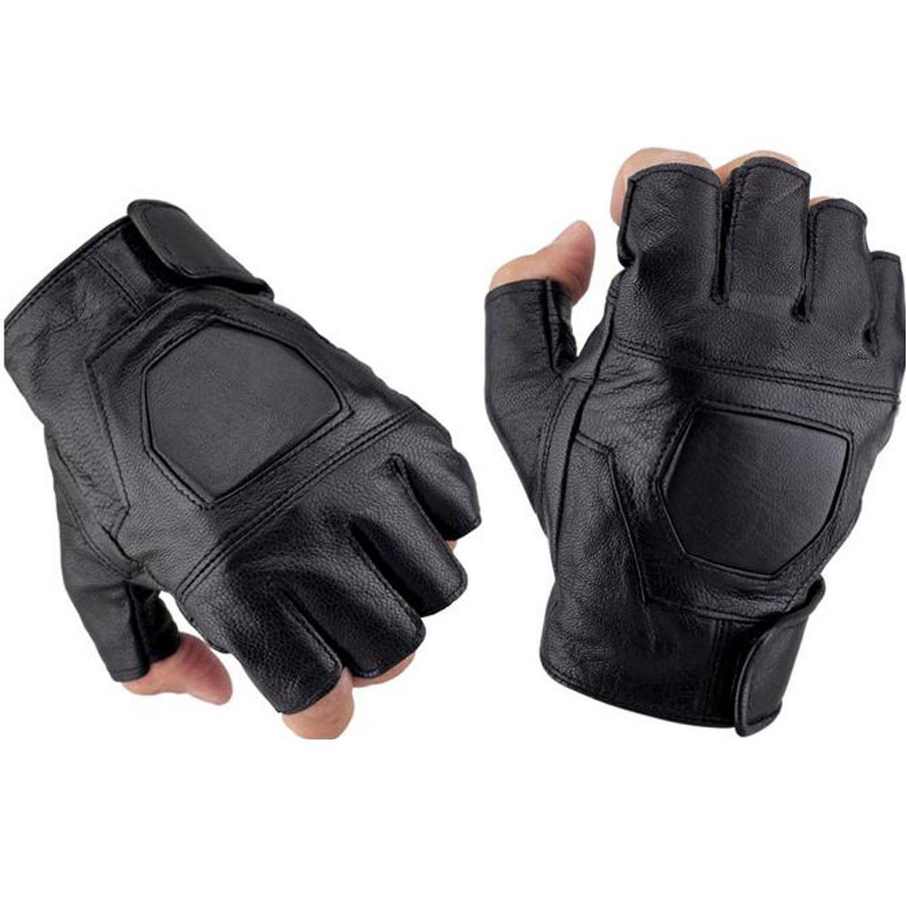 K-Mover Half Finger Leather Gloves Fingerless Street Dance Glove Cycling Gloves Universal Fit One Size Xiyuan