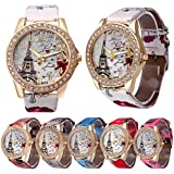 CdyBox Wholesale PU Leather Strap Watch 6 Pack...