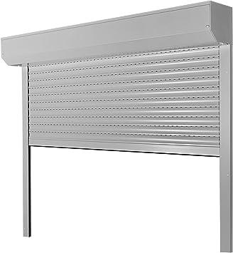 Tija de persiana tipo Corner, 39 mm, láminas de aluminio de 157 x 100 cm con motor, lado de funcionamiento: derecho como fabricación a medida, Plateado: Amazon.es: Bricolaje y herramientas