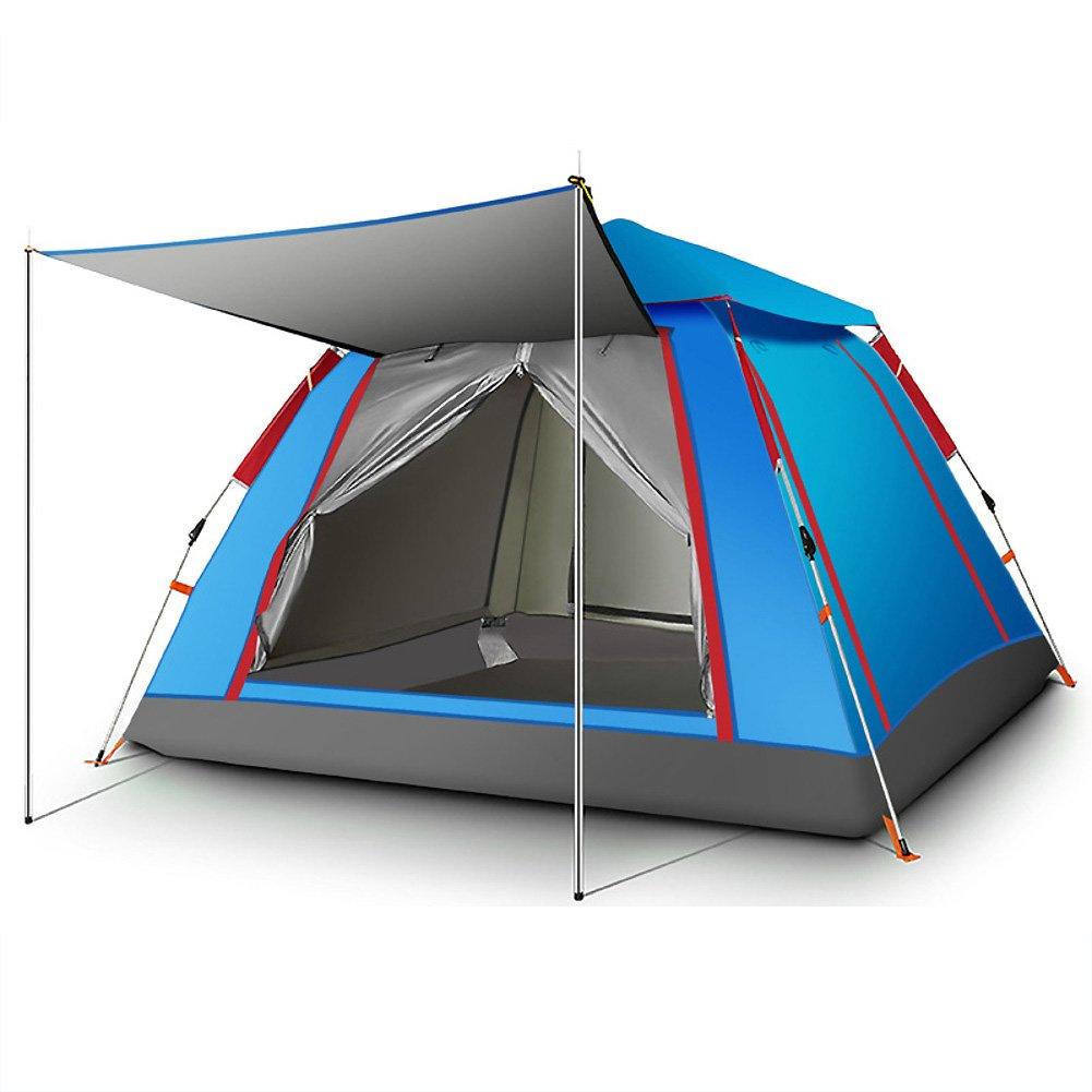 Automatische Zelt,3  4 Person Kuppelzelte Camping Zubehör Regendichte Automatische Instant pop-up- Mit Tragebag Fiberglas Familienzelt
