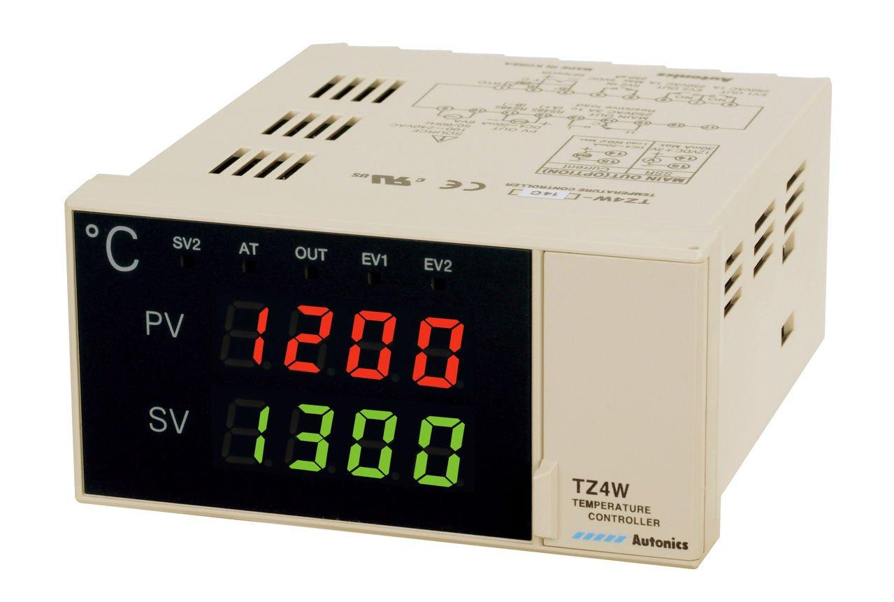 Autonics TZ4W-24R PID Temp Control, W96xH48mm, Digital, Relay Output, 2 Alarm Outputs, 100-240 VAC