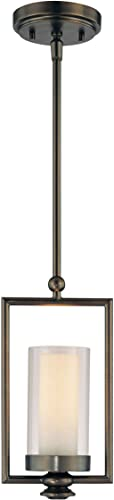 Minka Lavery Pendant Ceiling Lighting 4361-281, Havard Ct. Mini Cylinder, 1 Light, 60 Watts Halogen, Bronze