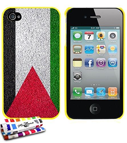 Ultraflache weiche Schutzhülle APPLE IPHONE 4 / IPHONE 4S [Palästina Flagge] [Gelb] von MUZZANO + STIFT und MICROFASERTUCH MUZZANO® GRATIS - Das ULTIMATIVE, ELEGANTE UND LANGLEBIGE Schutz-Case für Ihr