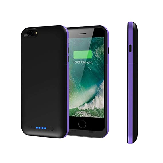 the best attitude 796ba e4d2d iPhone 6s Plus/6 Plus Battery Case,Epuirie 6800mAh Portable Charger Case  Rechargeable Extended Battery Pack Protective Backup Charging Case Cover  for ...