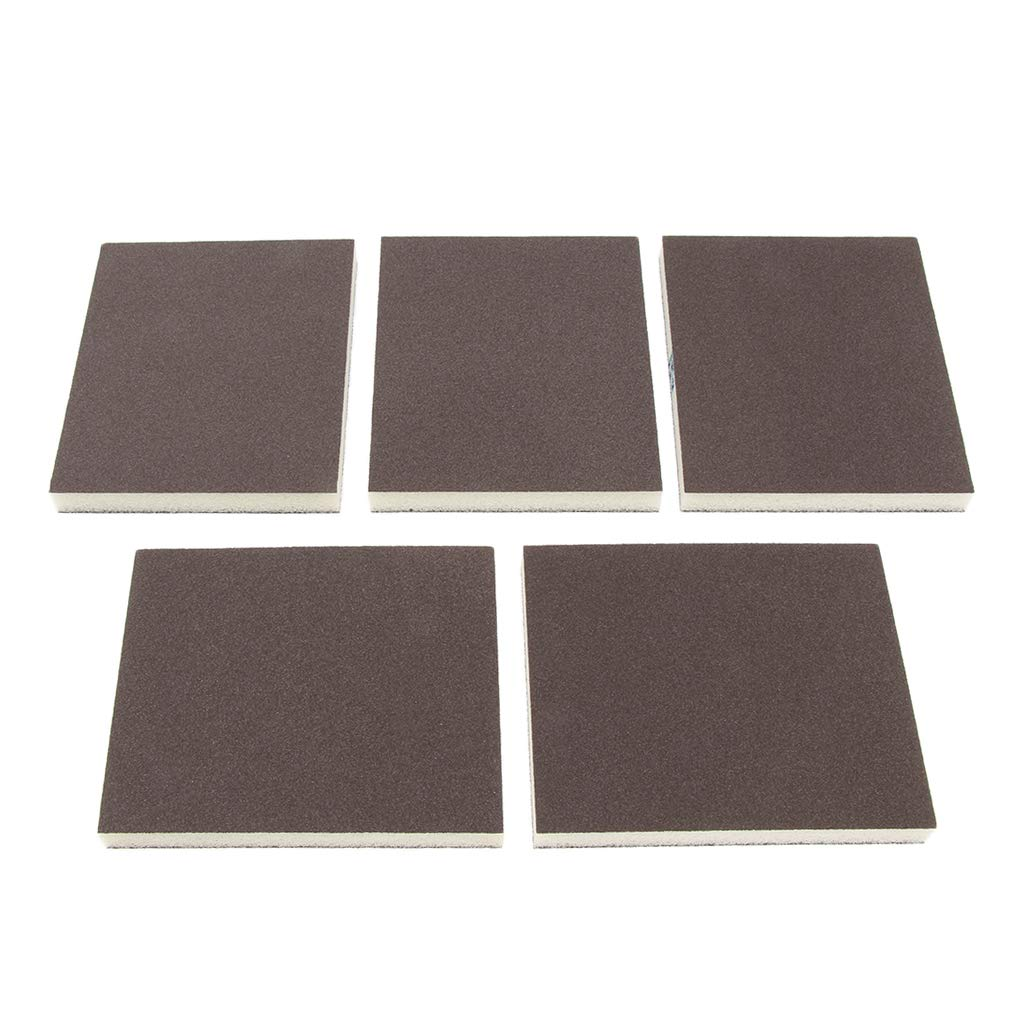 D DOLITY 5 Pcs Coarse//Medium Grit Sanding Sponge Grey Small Area Polishing curved and contoured surfaces 150 Grit for sanding flat