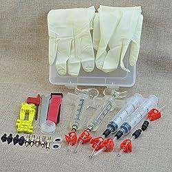 MTB Brake Bleed Kit Tools Set for Shimano TEKTRO Louise Marta HS33 HS11 ECHO Magura MT2/MT4/MT6/MT8 ZOOM CSC (Professional Version)