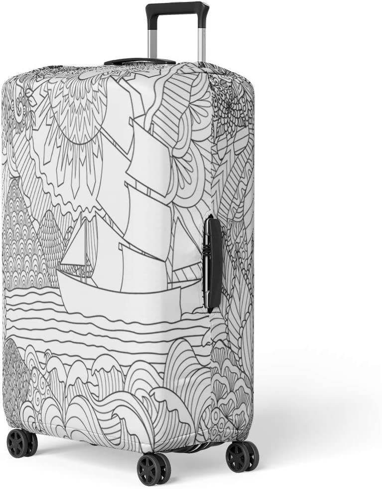 Pinbeam Luggage Cover Interior of Inn Figures in 17Th Century Costume Travel Suitcase Cover Protector Baggage Case Fits 26-28 inches