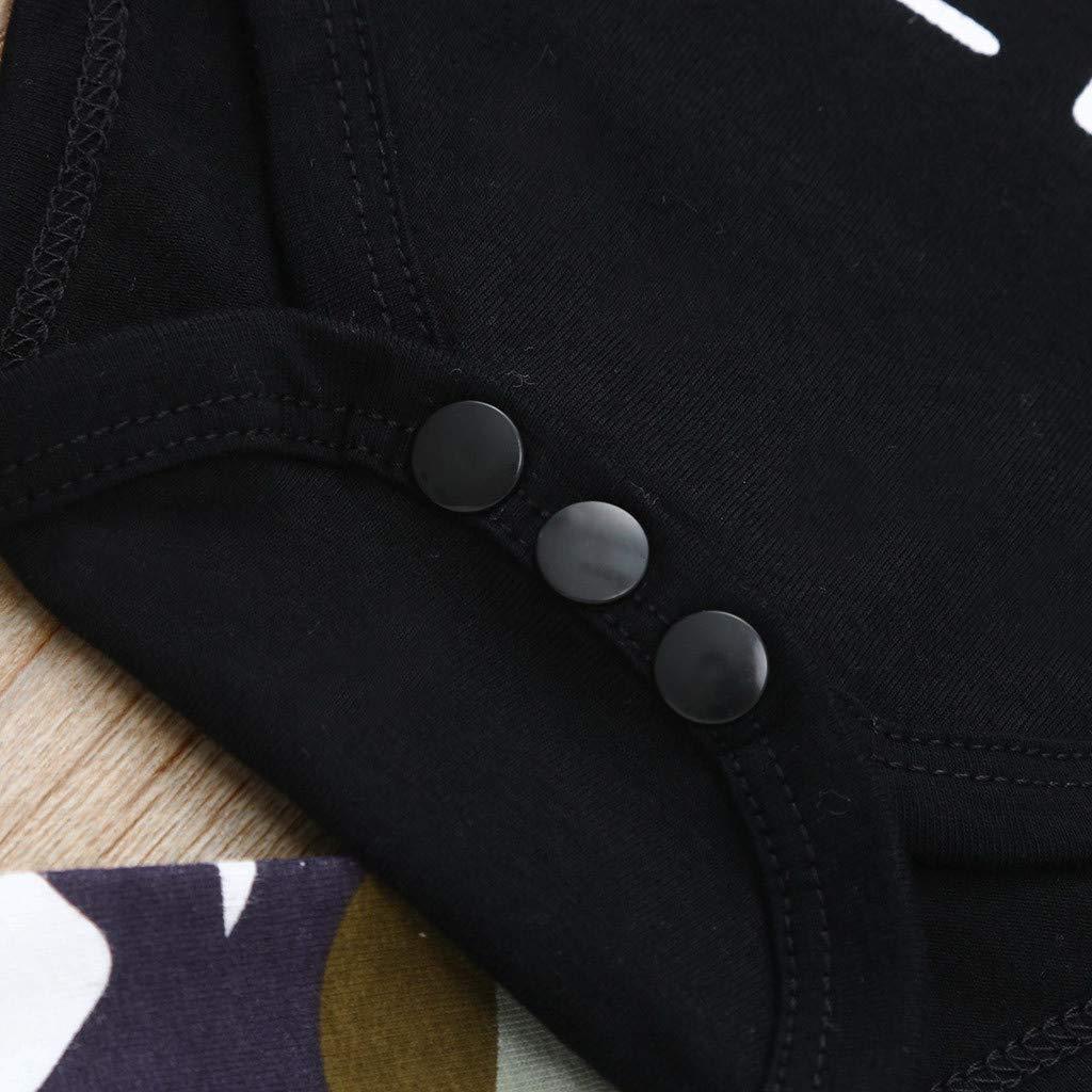 Beikoard/_Ropa de Ni/ño y Ni/ña,2019 Primavera y Verano Bebe Carta Dibujos Animados Camuflaje Traje de Tres piezasCasual Moda Manga Corta Ropa Pantalones Tops T-Short