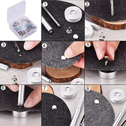 Et Pandahall Clou Sacs Cuir Rivets Acier Bracelet Chaussure Pour Des Turquoise 120 Elite Aluminium 15 Rivet Couleurs Artisanat Accessoires 8mm En Decoration Inoxydable Du De Sets Ceinture Avec ZqrxZRw8