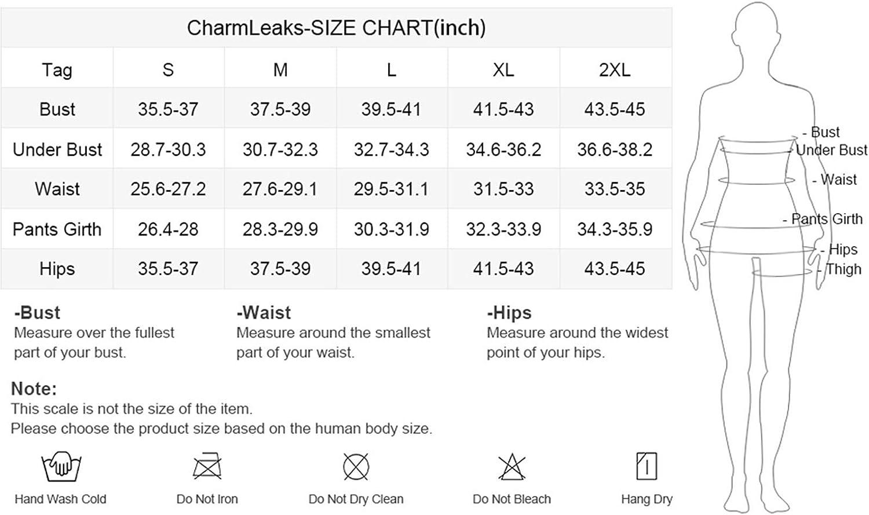 CharmLeaks Maillot de bain 2 pièces rembourré pour femme Taille haute Peau de Serpent.