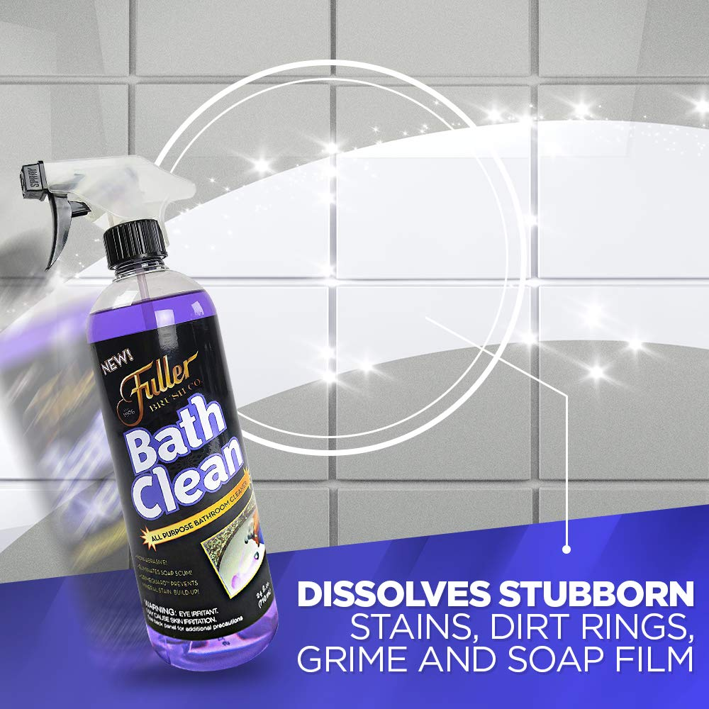 Fuller Brush Bath Clean - Dissolves Tough Soap Scum & Hard Water Stains - Contains Grimegaurd - 24 oz by Fuller Brush (Image #4)