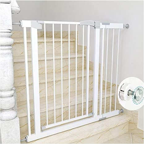 Amazon Co Jp Baby Fence On Stair Top With Pet Door White Bedroom Kitchen Stairs Entryway Veranda Kids 6 Months To 5 Years Dog Cat Fence Prevents Falling Pet Iron Gate White Opens And Closes