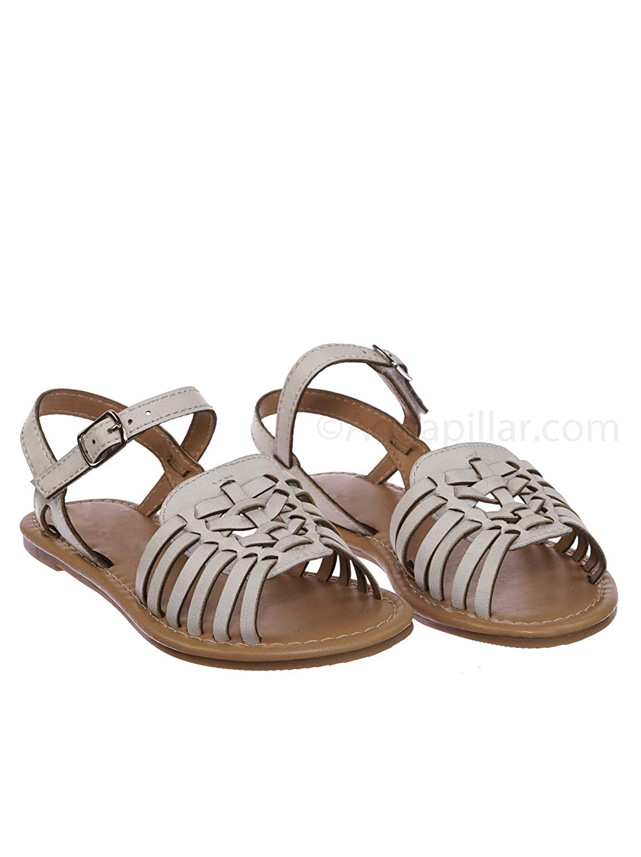bf07274d22b Amazon.com | Kids Woven Fisherman Huarache Flat Sandal - Girl Children  Festive Cinco De Mayo Shoes | Sandals