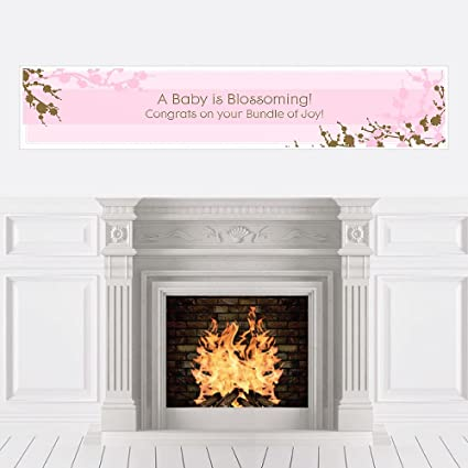 Amazon Cherry Blossom Baby Shower Decorations Party Banner